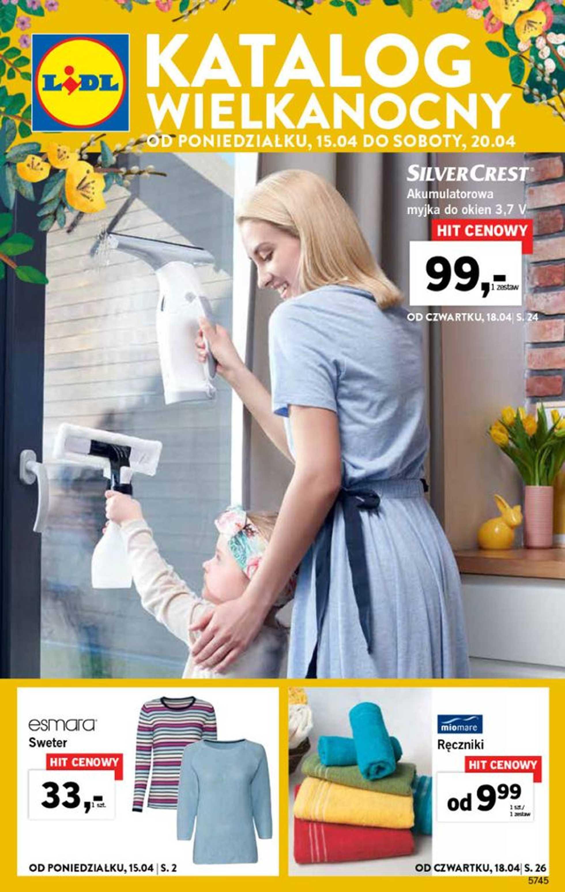 Lidl - gazetka promocyjna ważna od 15.04.2019 do 20.04.2019 - strona 1.