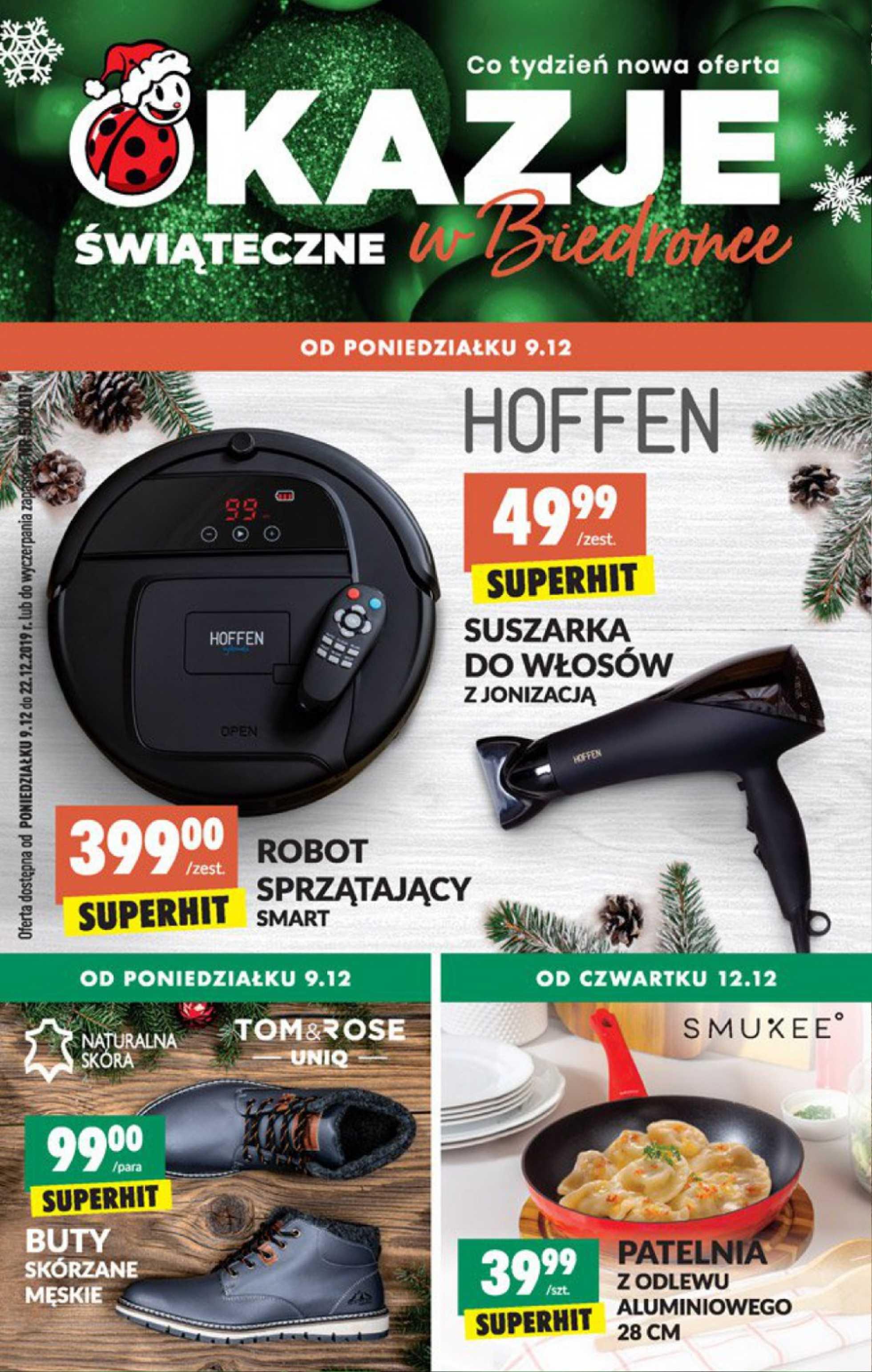 Biedronka - gazetka promocyjna ważna od 09.12.2019 do 22.12.2019 - strona 1.