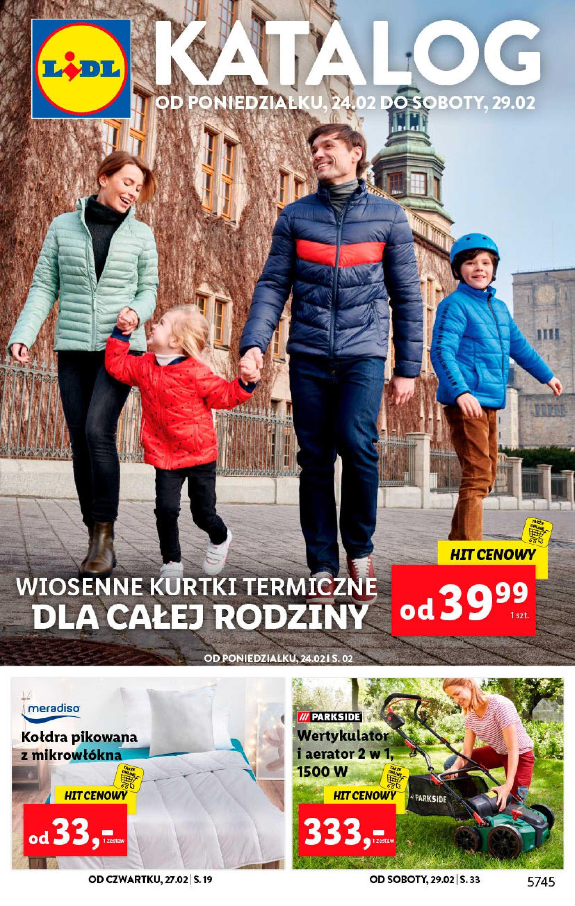 Lidl - gazetka promocyjna ważna od 24.02.2020 do 29.02.2020 - strona 1.