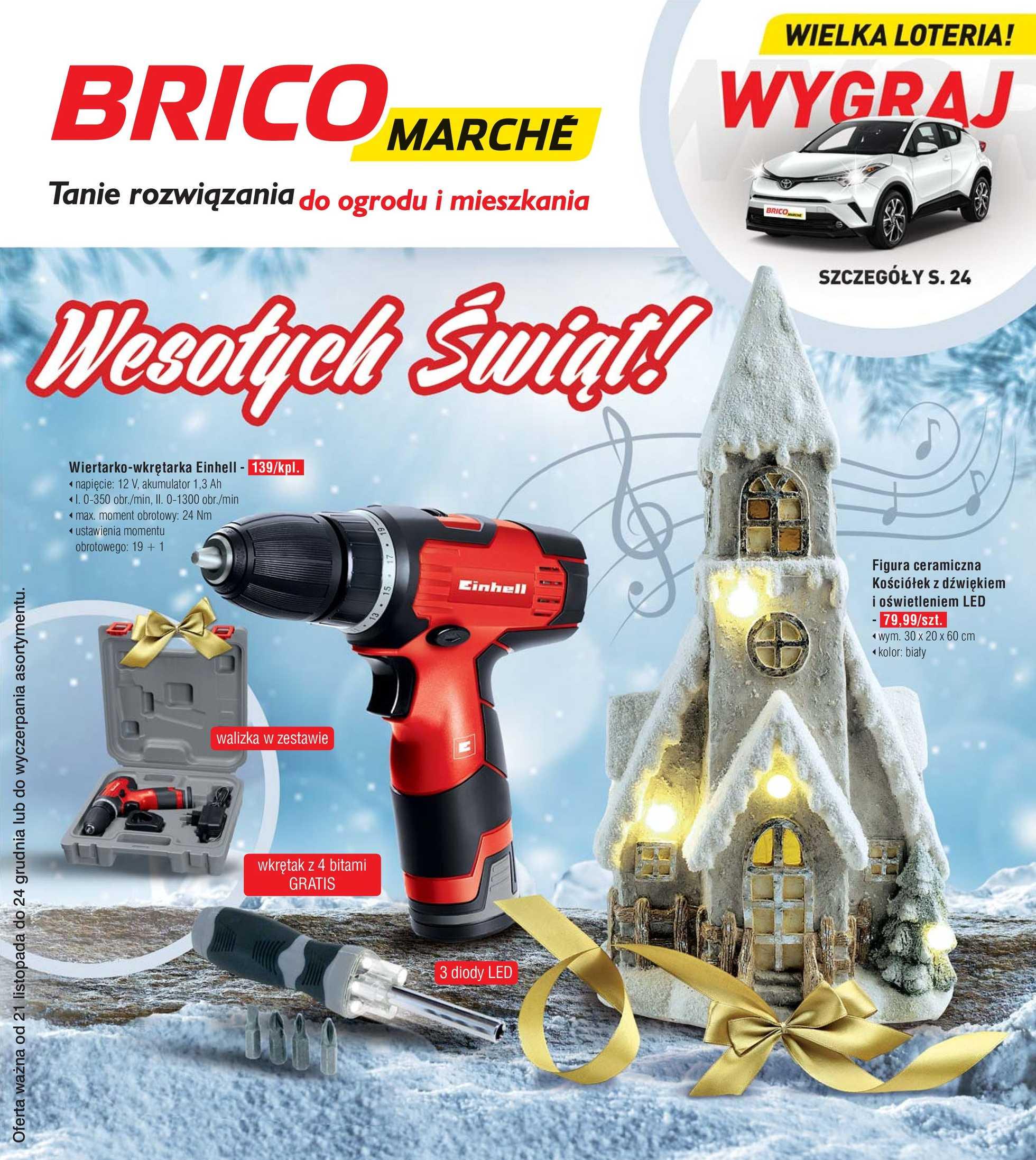 Bricomarche - gazetka promocyjna ważna od 21.11.2018 do 24.12.2018 - strona 1.