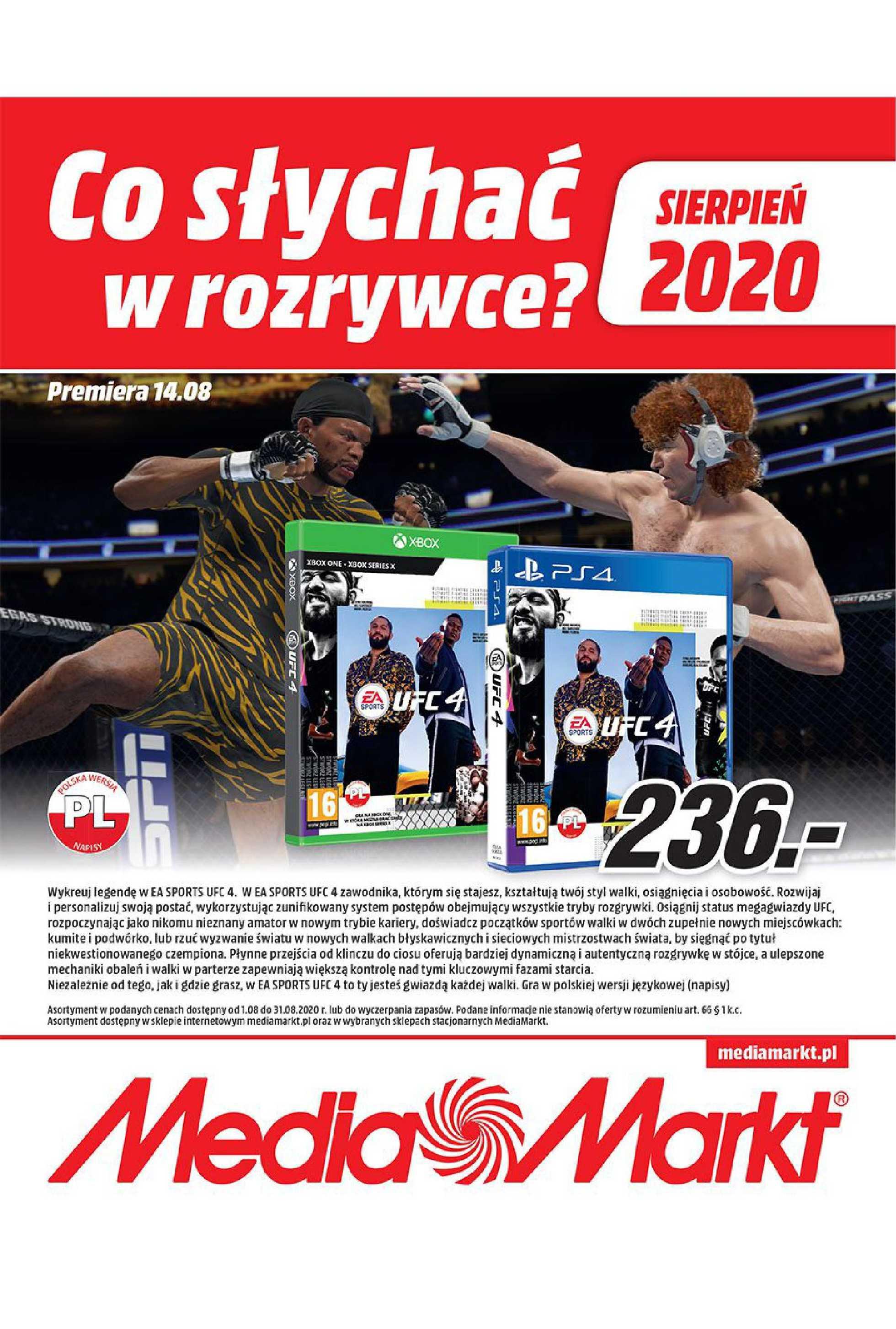 Media Markt - gazetka promocyjna ważna od 01.08.2020 do 31.08.2020 - strona 1.