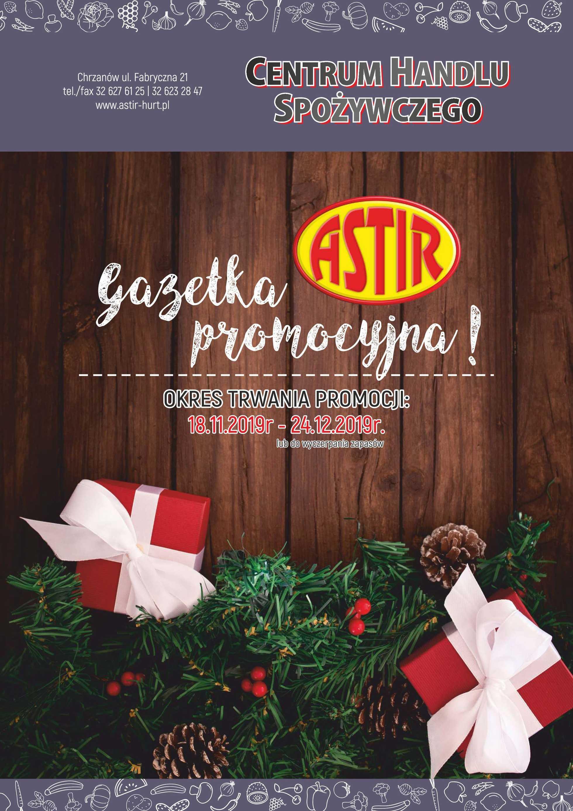 Astir - gazetka promocyjna ważna od 18.11.2019 do 24.12.2019 - strona 1.