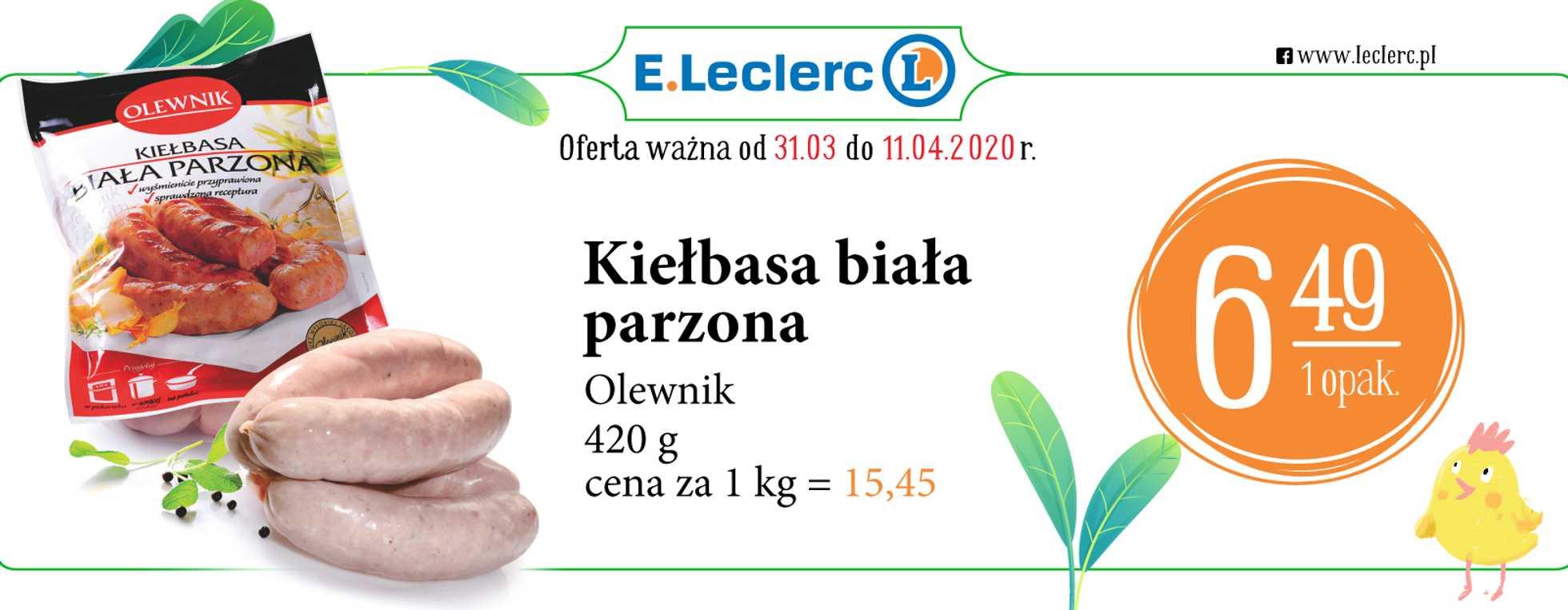 E.Leclerc - gazetka promocyjna ważna od 31.03.2020 do 11.04.2020 - strona 4.
