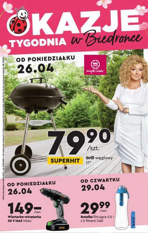 Biedronka - gazetka promocyjna ważna od 26.04.2021 do 10.05.2021 - strona 1.