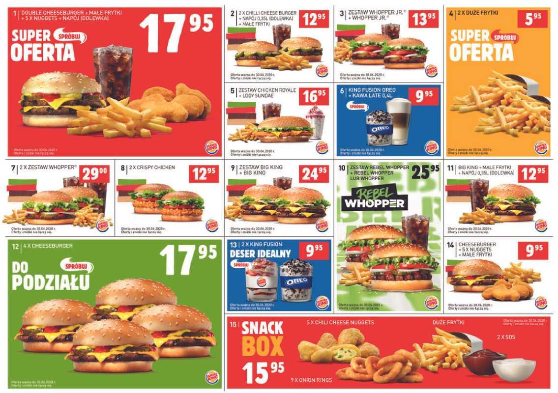 Burger King - gazetka promocyjna ważna od 01.04.2020 do 30.06.2020 - strona 1.