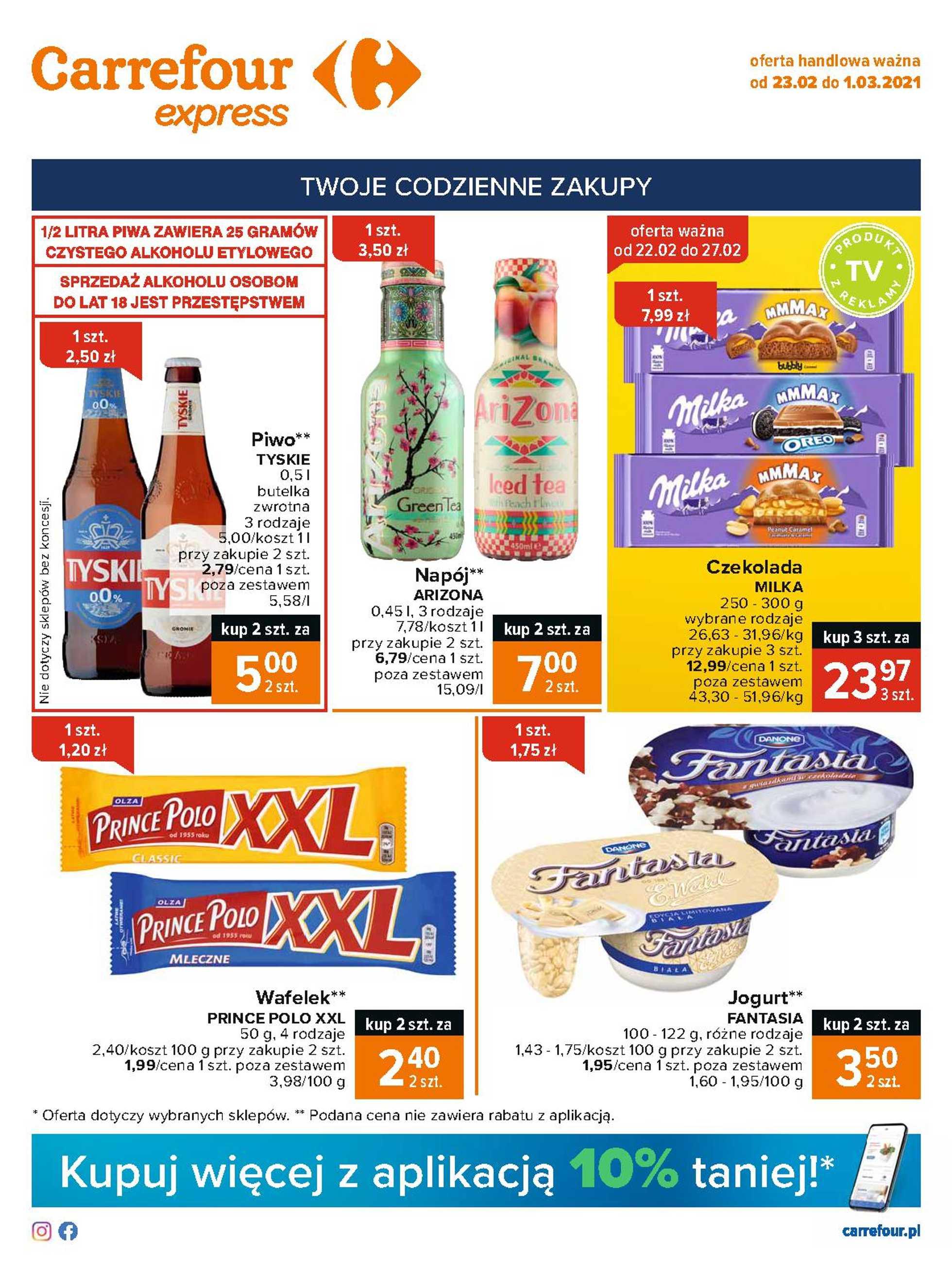 Carrefour Express - gazetka promocyjna ważna od 23.02.2021 do 01.03.2021 - strona 1.