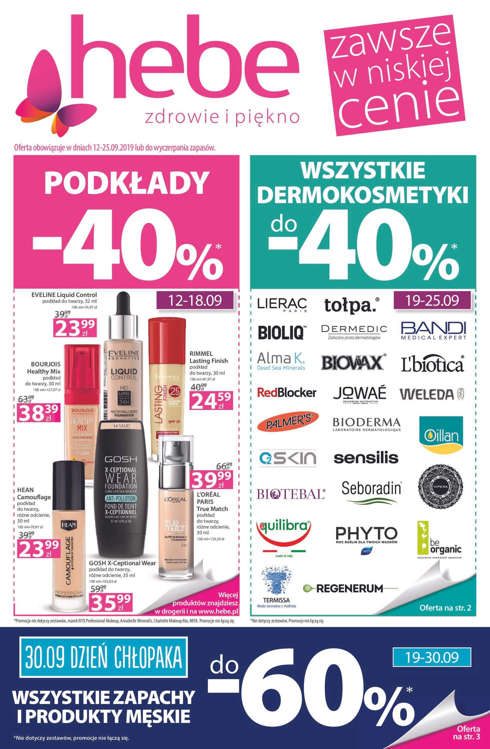 Hebe - gazetka promocyjna ważna od 12.09.2019 do 25.09.2019 - strona 1.