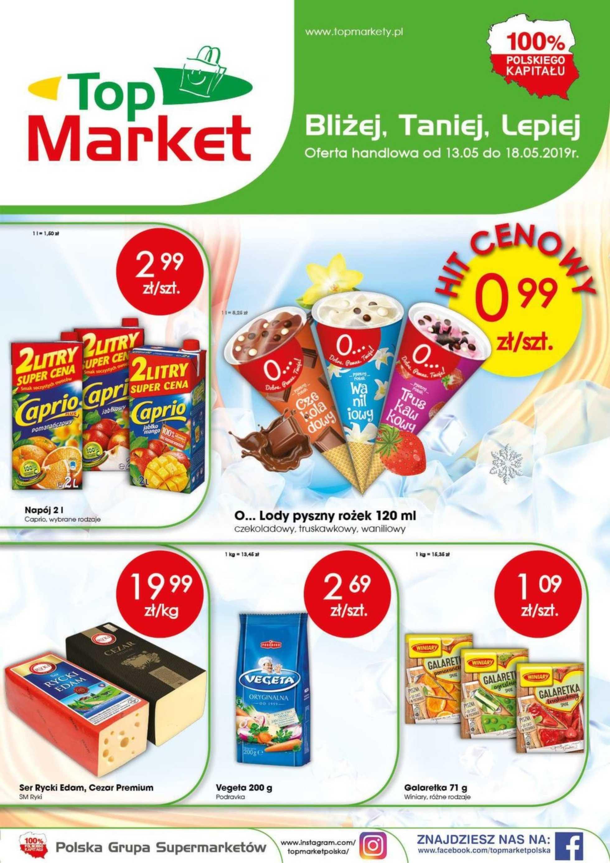 Top Market - gazetka promocyjna ważna od 13.05.2019 do 18.05.2019 - strona 1.