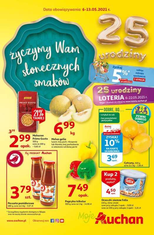 Auchan - gazetka promocyjna ważna od 06.05.2021 do 13.05.2021 - strona 1.