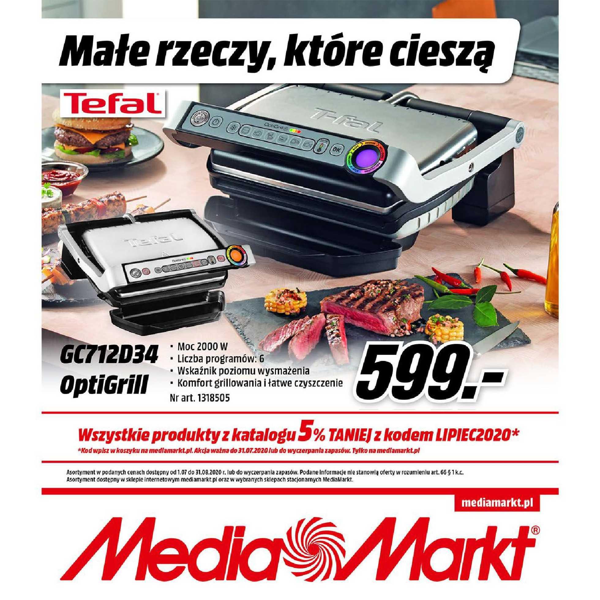 Media Markt - gazetka promocyjna ważna od 01.07.2020 do 31.08.2020 - strona 1.