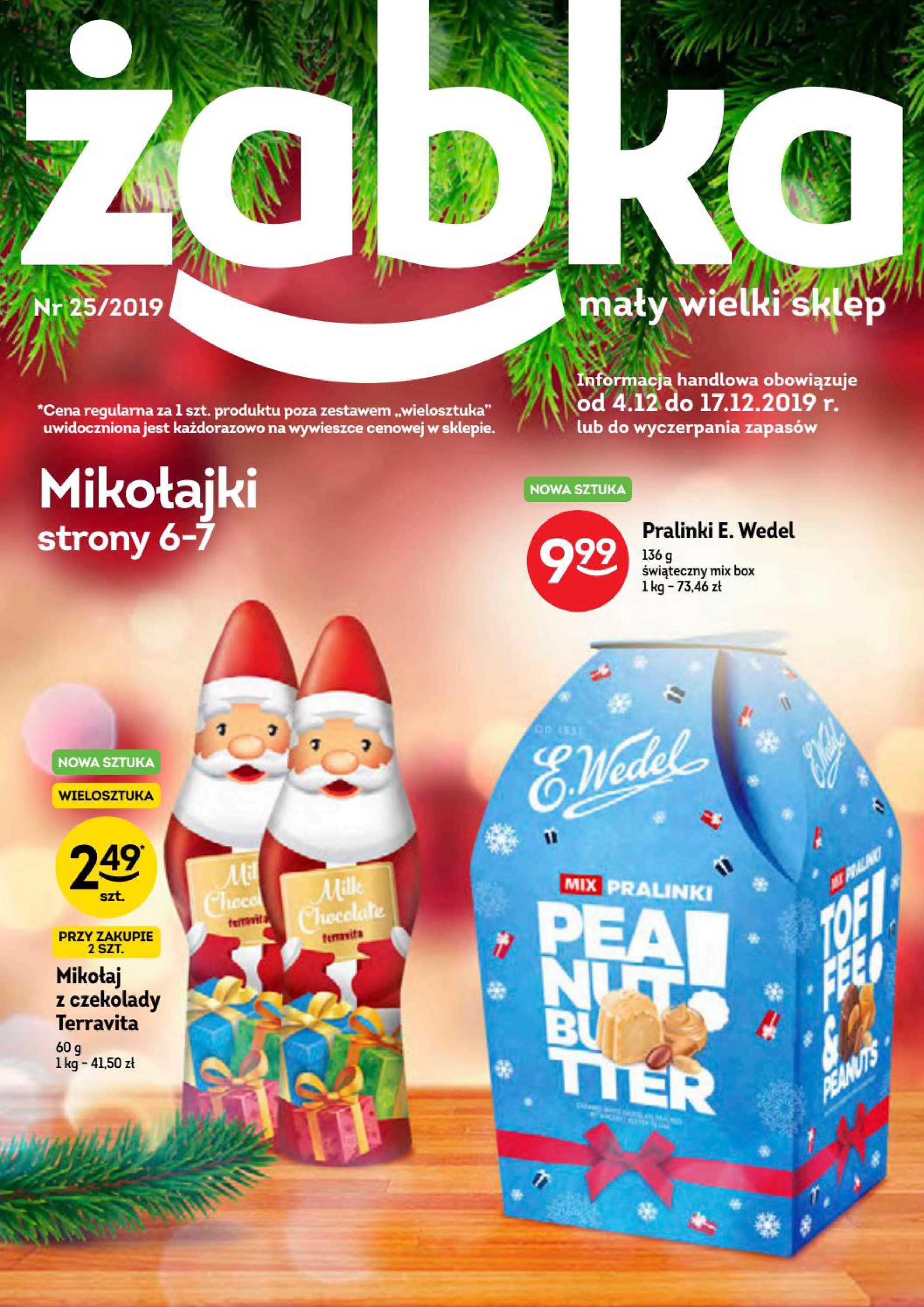Żabka - gazetka promocyjna ważna od 04.12.2019 do 17.12.2019 - strona 1.