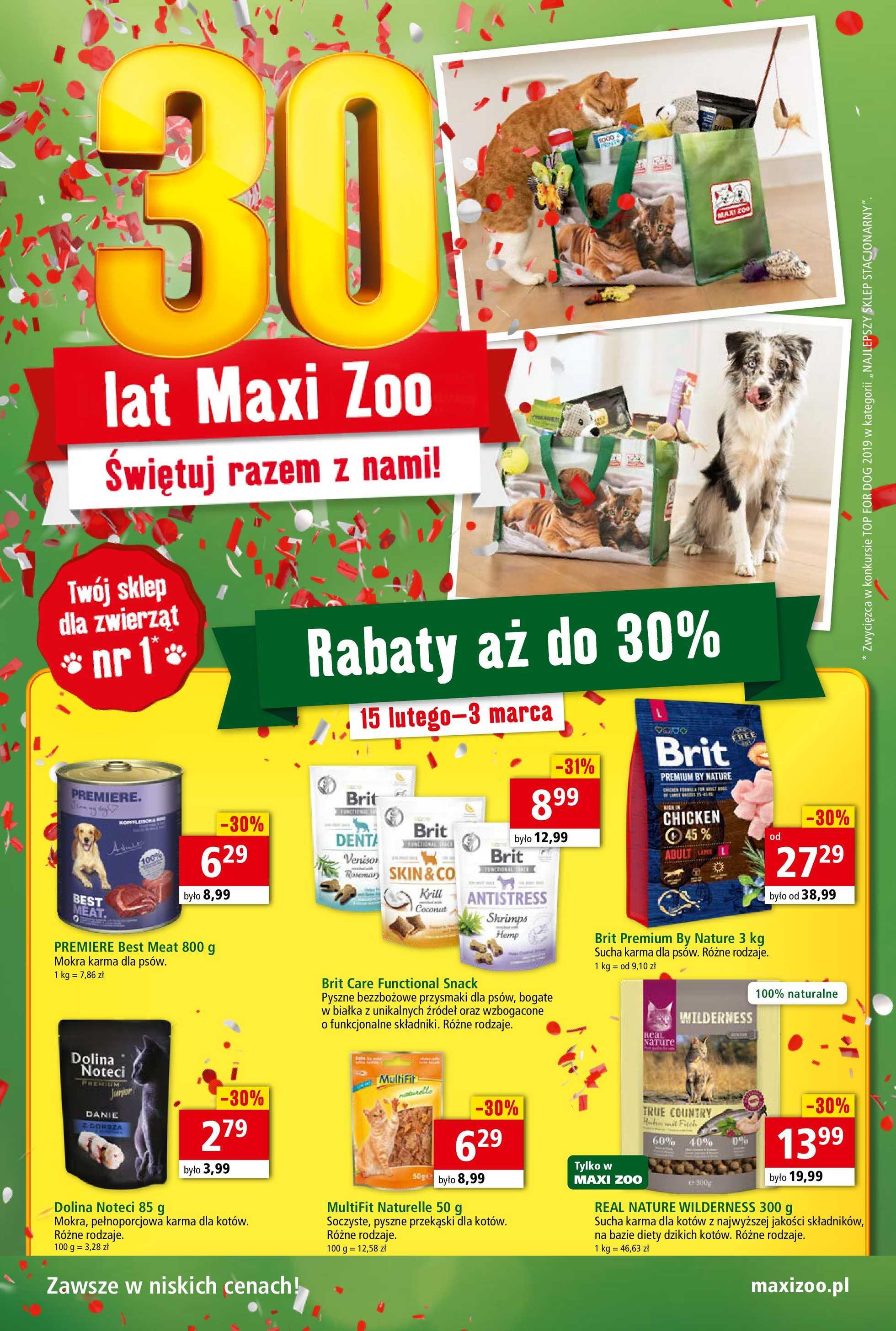 Maxi ZOO - gazetka promocyjna ważna od 15.02.2020 do 03.03.2020 - strona 1.