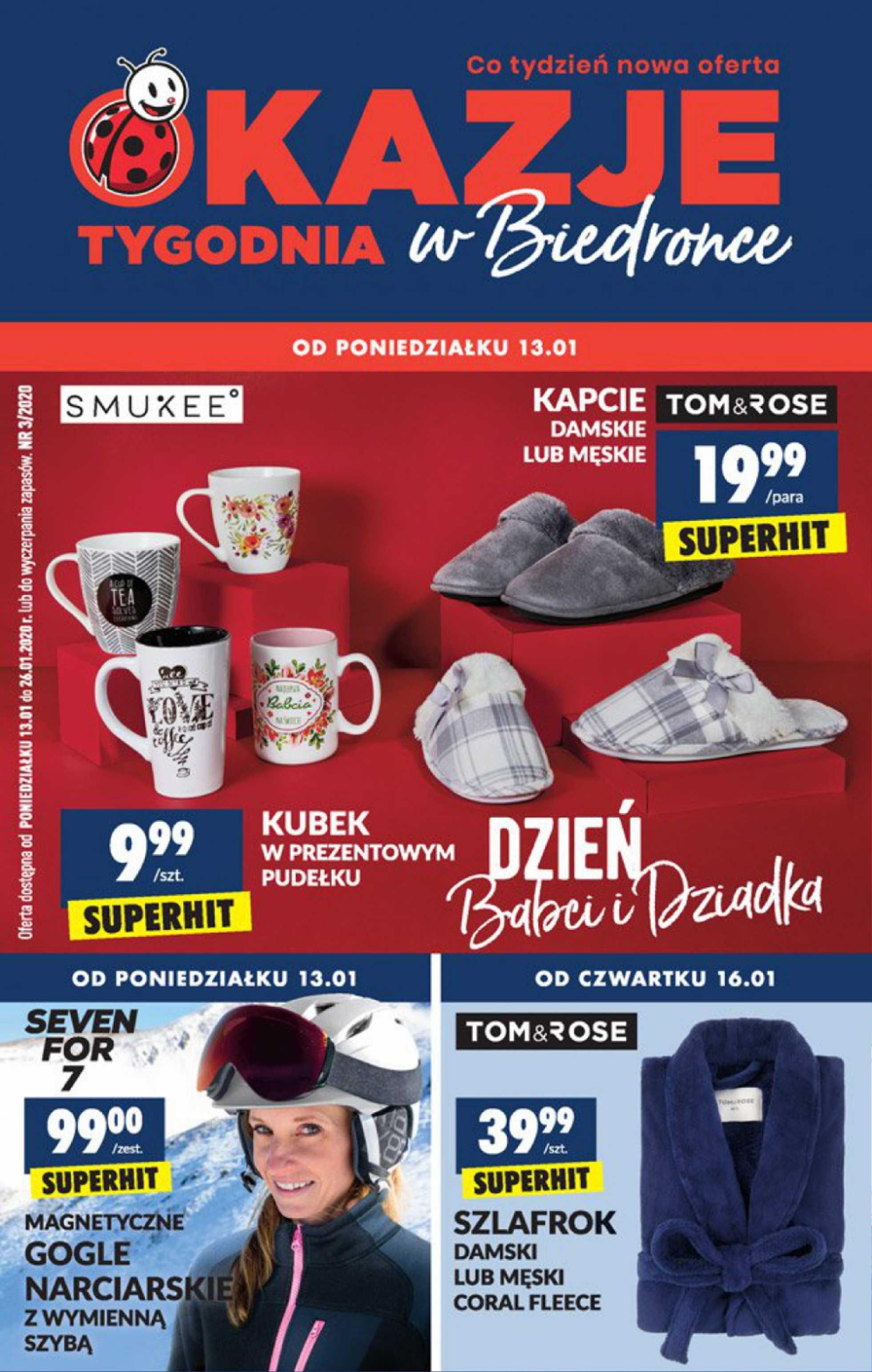 Biedronka - gazetka promocyjna ważna od 13.01.2020 do 26.01.2020 - strona 1.