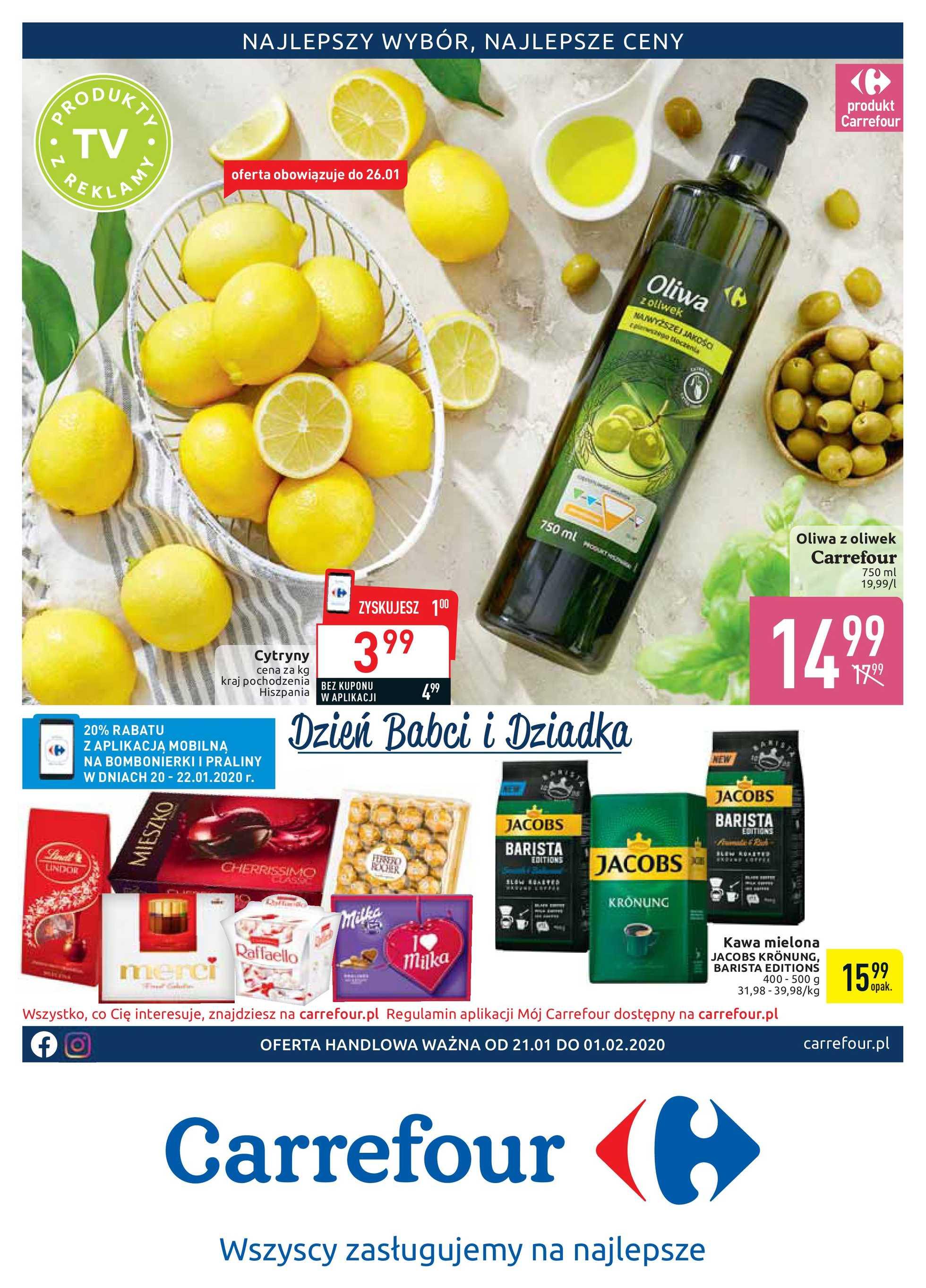Carrefour - gazetka promocyjna ważna od 21.01.2020 do 01.02.2020 - strona 1.