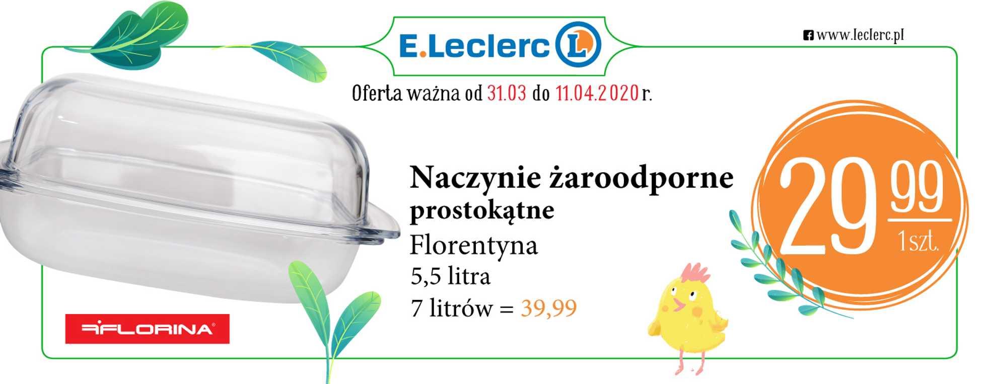 E.Leclerc - gazetka promocyjna ważna od 31.03.2020 do 11.04.2020 - strona 1.