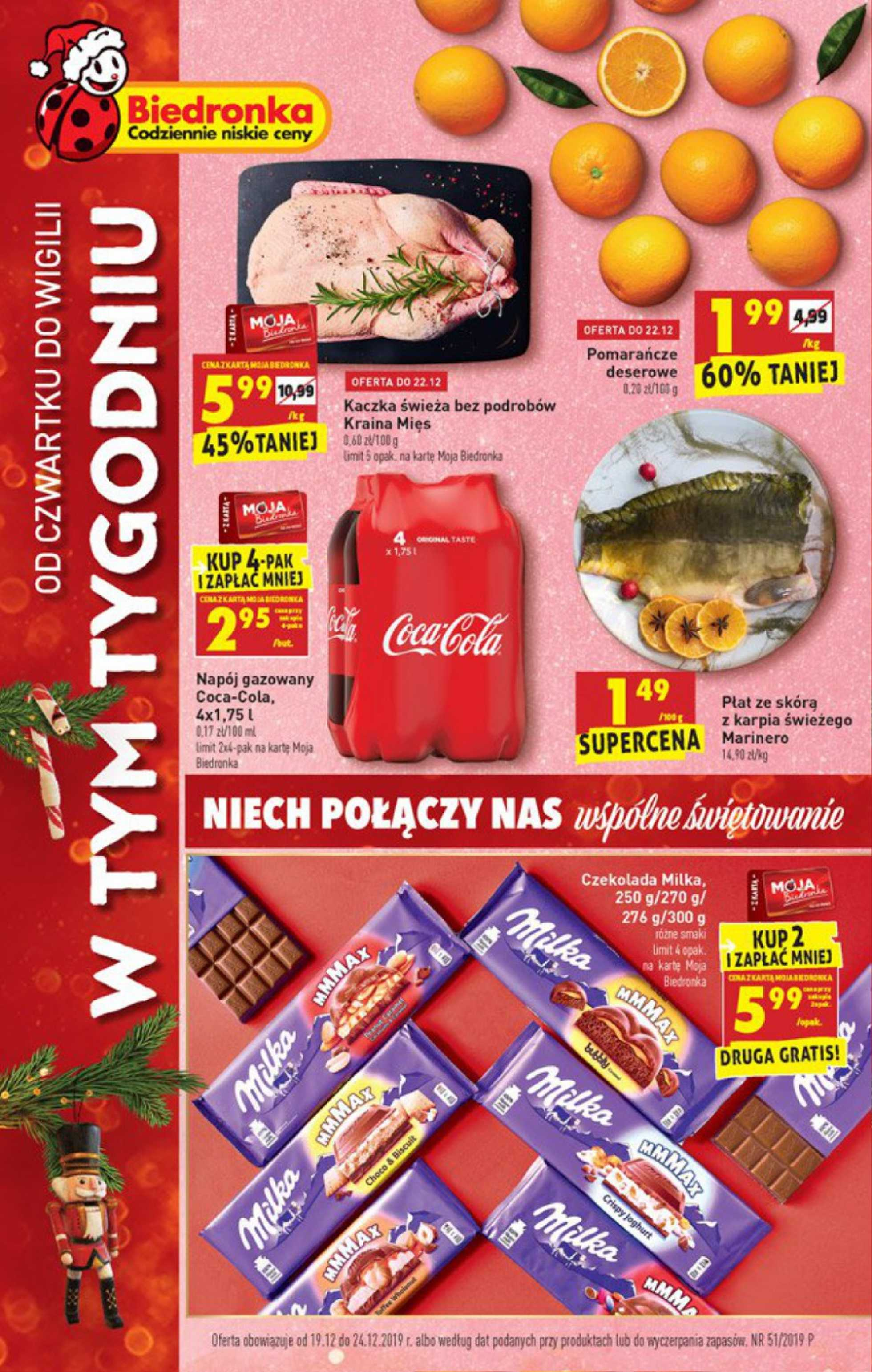 Biedronka - gazetka promocyjna ważna od 19.12.2019 do 24.12.2019 - strona 1.